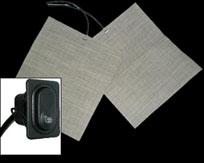Двух уровневый подогрев сидений модульного типа, предназначен для монтажа под обшивку сидений автомобиля.